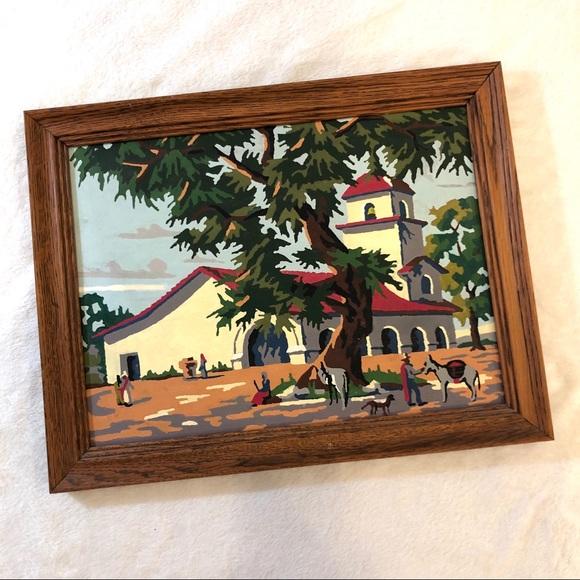 Vintage Other - Vintage Paint by Number 'The Mission' Framed Art